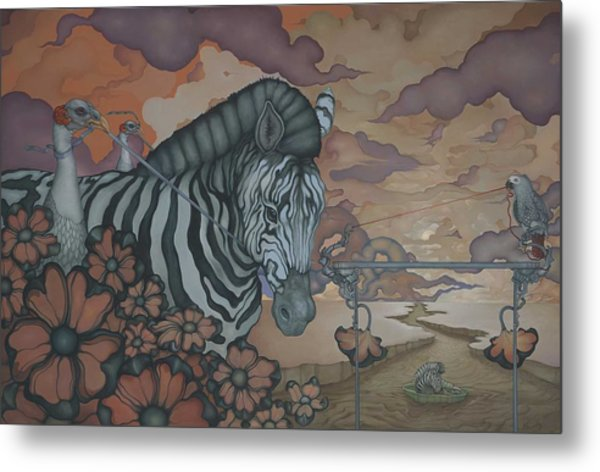 Crossing The Mara Metal Print