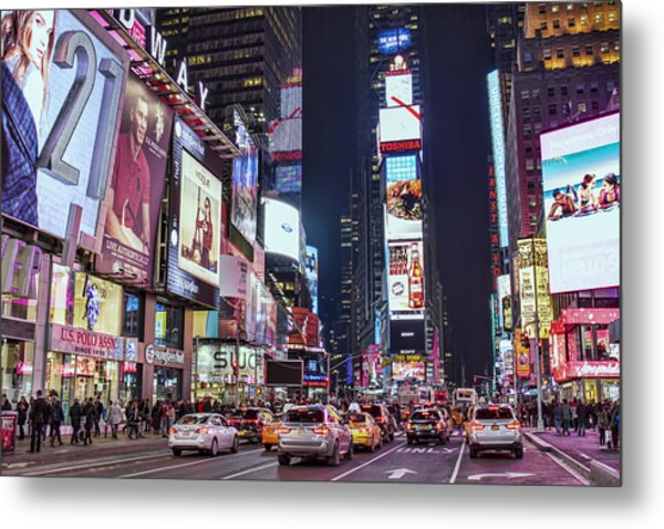 Crossroads Of The World Metal Print by Zev Steinhardt