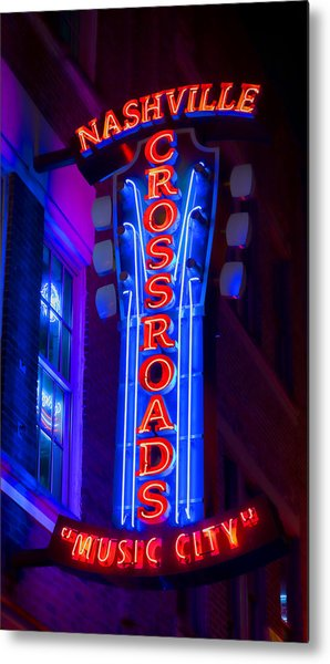 Music City Crossroads Metal Print