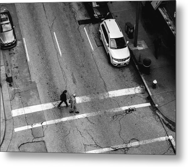 Crosswalk From Above Metal Print by Dylan Murphy