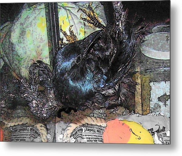 Crow Mid Flip Metal Print