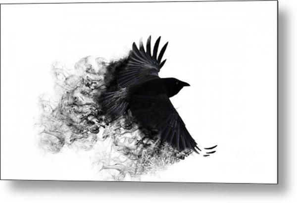 Crow Wallpaper Metal Print