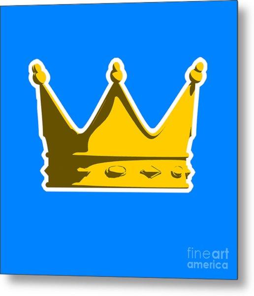 Crown Graphic Design Metal Print