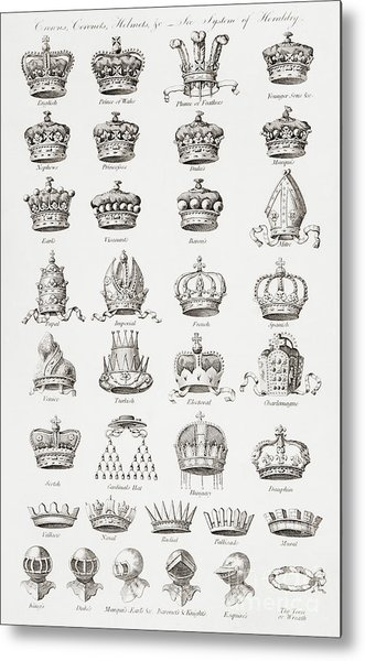 Crowns, Coronets And Helmets Metal Print
