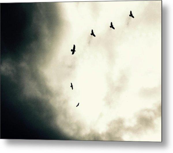 Crows On Christmas Eve 1 Metal Print