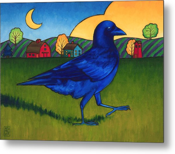 Crows Run Metal Print by Stacey Neumiller