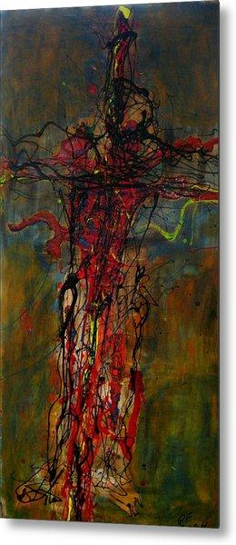 Crucified Metal Print by Paul Freidin