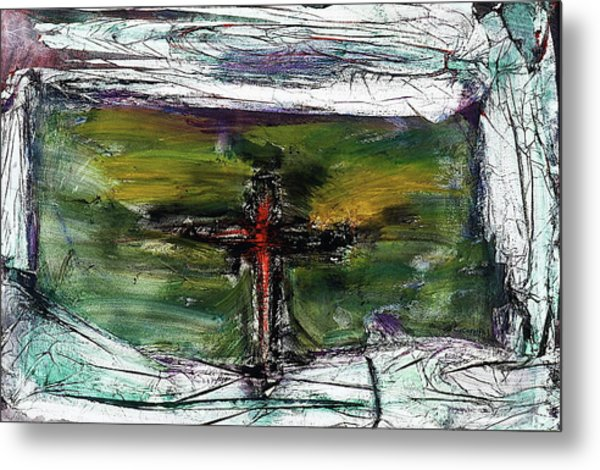 Metal Print featuring the painting Crucifixion #3 by Michael Lucarelli