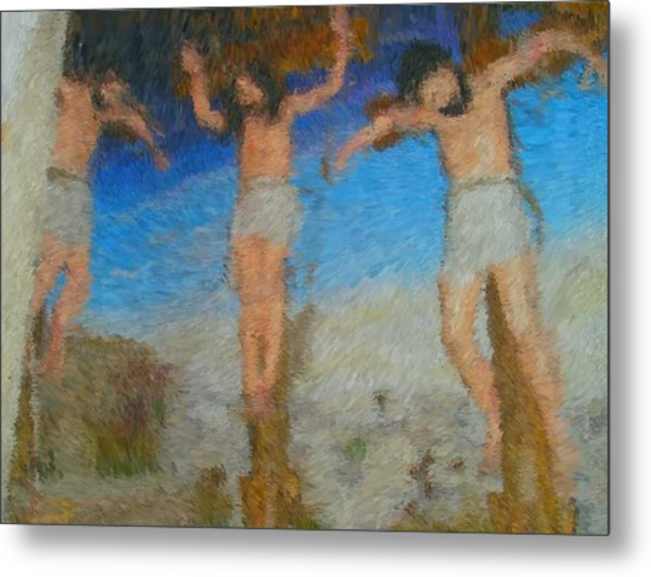 Crucifixion Metal Print by Mike La Muerte Giuliani