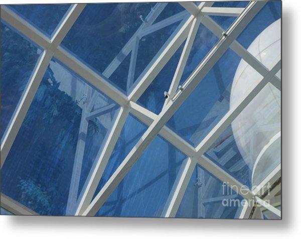 Cruise Ship Abstract Girders And Dome 2 Metal Print