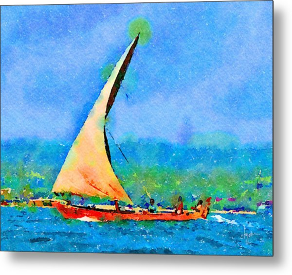 Metal Print featuring the painting Cruisin by Angela Treat Lyon