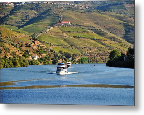 Cruising Douro River Valley Metal Print by Jacqueline M Lewis