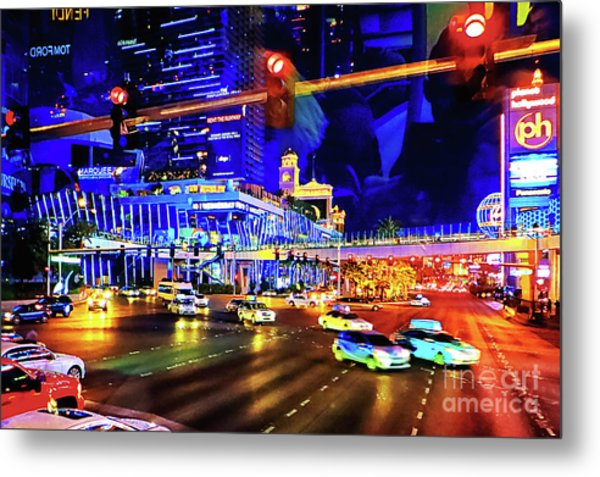 Cruising On The Strip Metal Print