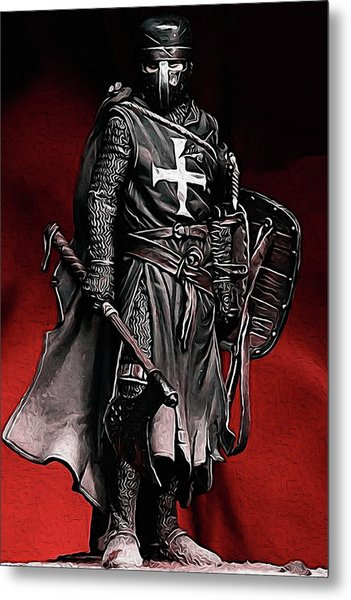 Crusader Warrior - Medieval Warfare Metal Print