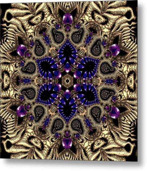 Metal Print featuring the digital art Crystal 61345 by Robert Thalmeier