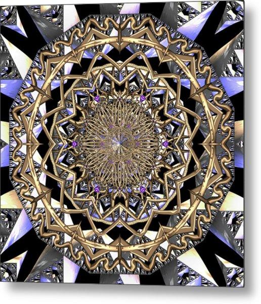 Metal Print featuring the digital art Crystal Ahau  by Robert Thalmeier