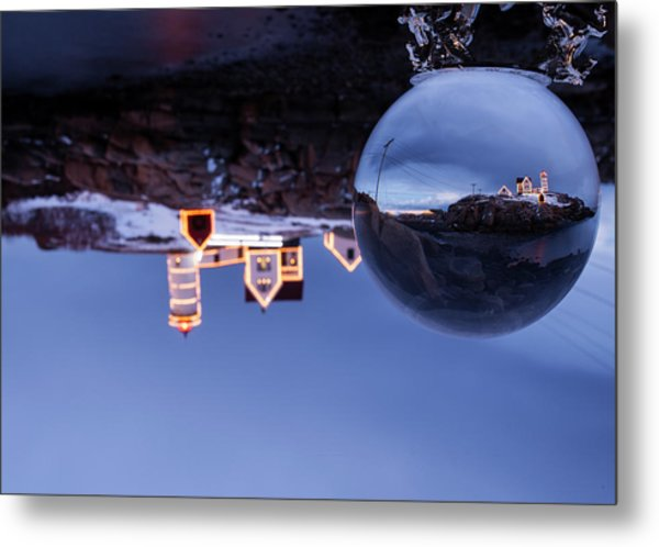 Crystal Ball Nubble Metal Print