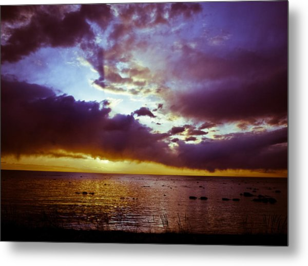 Crystal Beach Metal Print