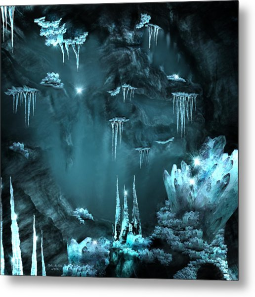 Crystal Cave Mystery Metal Print