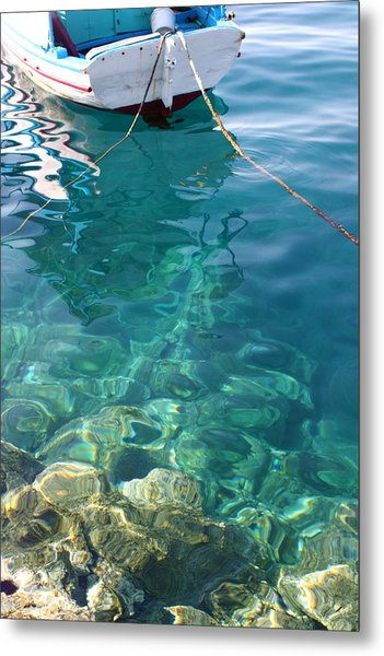 Crystal Clear Metal Print by Yvonne Ayoub