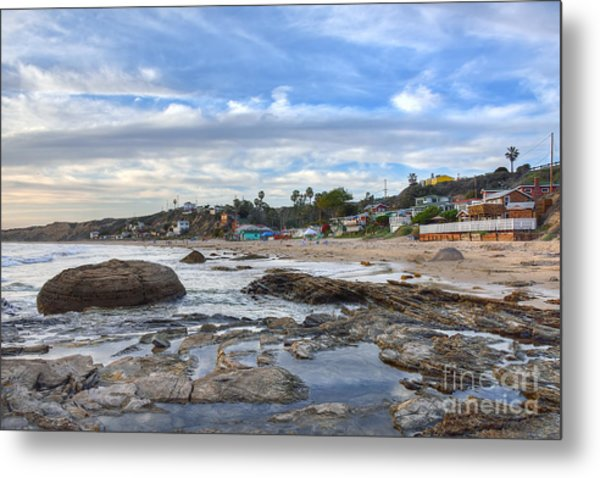 Crystal Cove Beach Cottages Metal Print