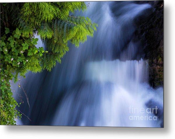 Crystal Creek Waterfalls Metal Print