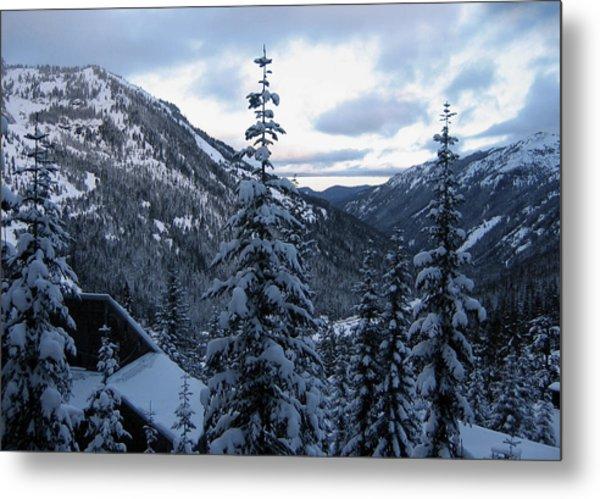 Crystal Mountain Dawn Metal Print
