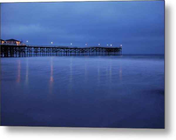Crystal Pier Blue Metal Print