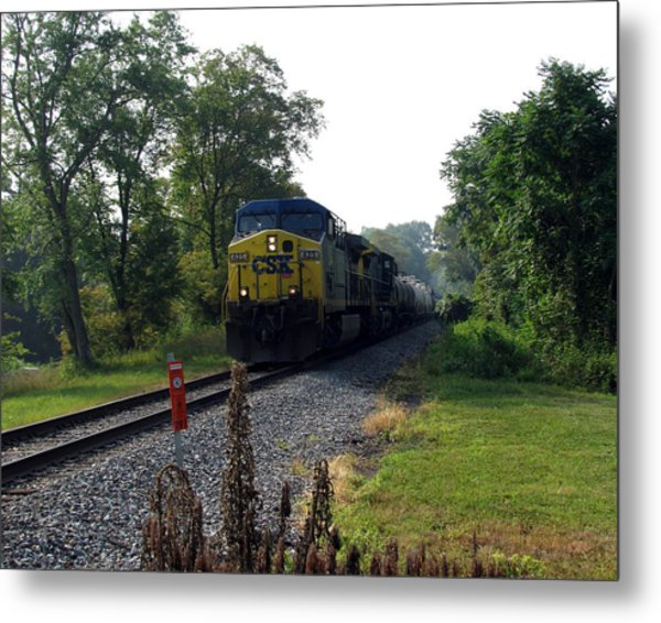 Csx 425 Coming Down The Tracks Metal Print