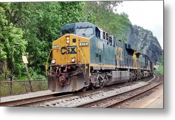 Csx Ac60cw Leading Manifest Freight At Harper's Ferry Metal Print
