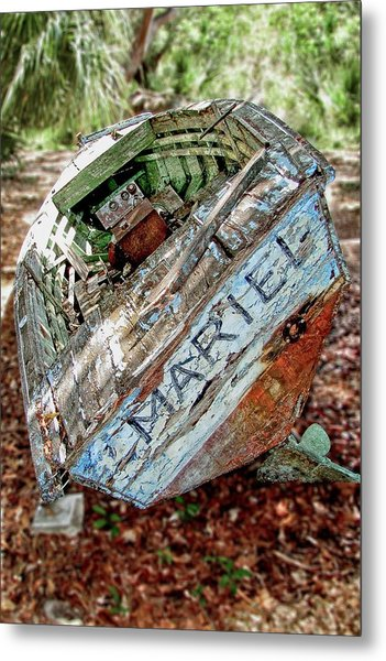 Cuban Refugee Boat 3 The Mariel Metal Print