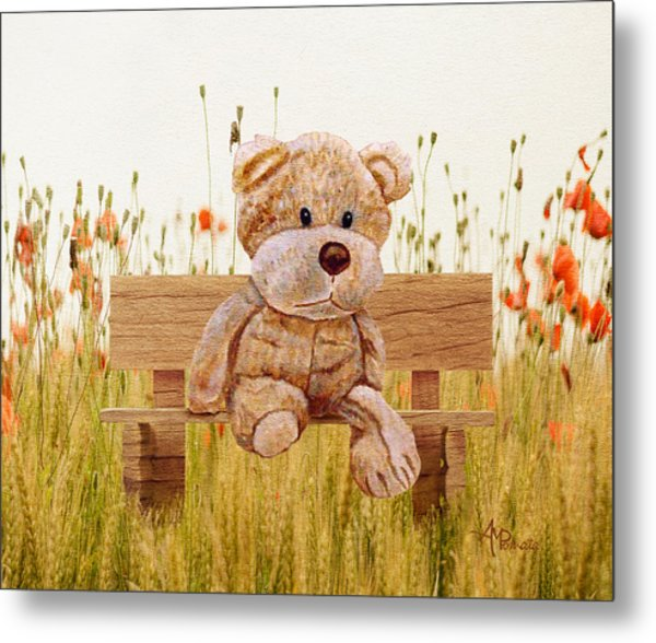 Cuddly In The Garden Metal Print