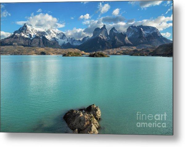 Cuernos Massif, Patagonia Metal Print
