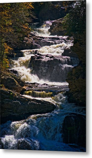 Cullasaja Falls - North Carolina Waterfall Metal Print