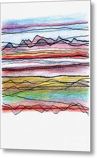 Cumbria Lines  Metal Print by Andy  Mercer