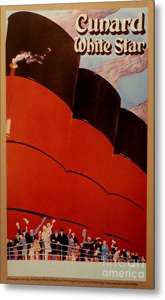 Cunard-white Star Ocean Liner Poster Metal Print