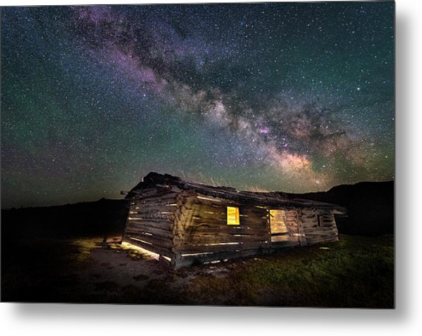 Cunningham Cabin After Dark Metal Print