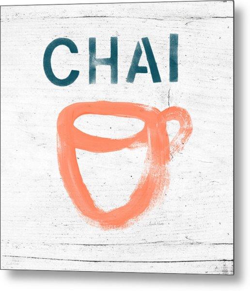 Cup Of Chai- Art By Linda Woods Metal Print