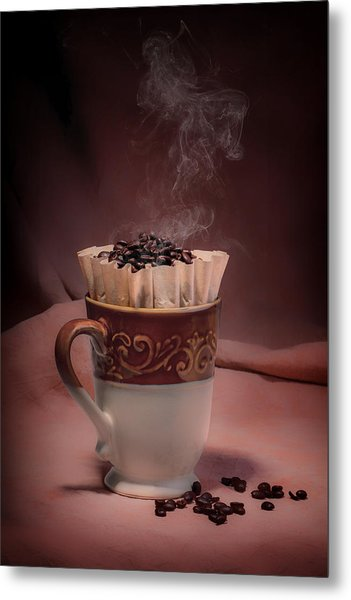 Cup Of Hot Coffee Metal Print