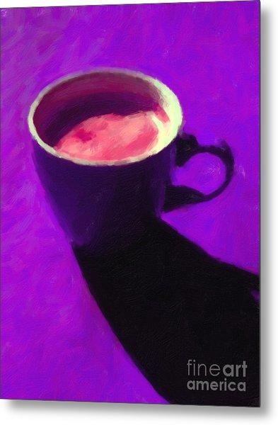 Cuppa Joe - Purple Metal Print by Wingsdomain Art and Photography