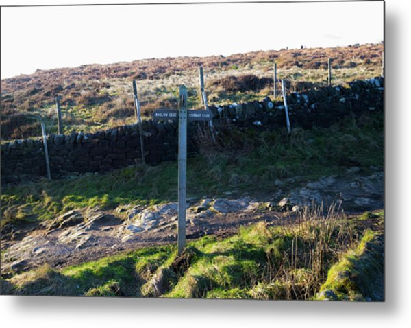 Curbar Edge Which Way To Go Metal Print