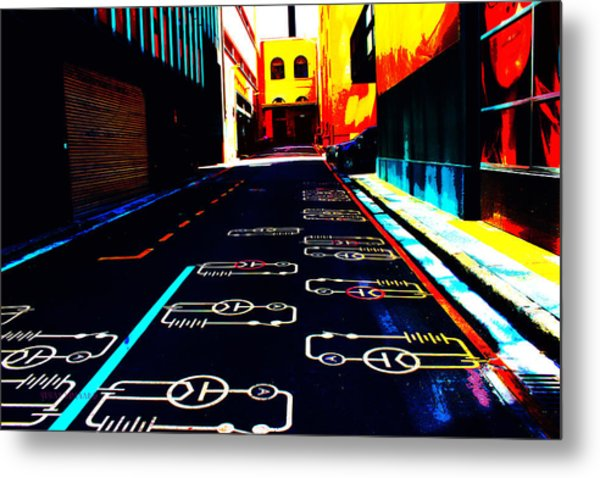 Curcuit City Metal Print