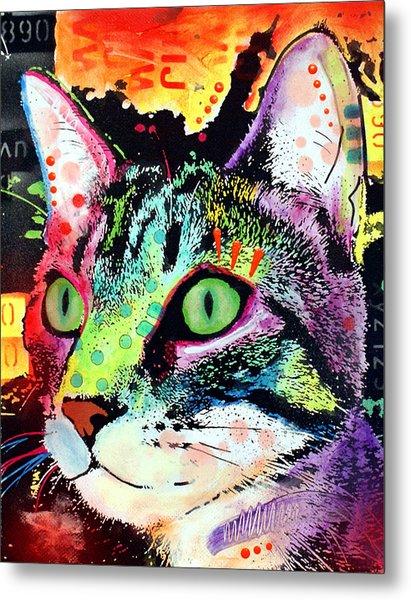 Curiosity Cat Metal Print