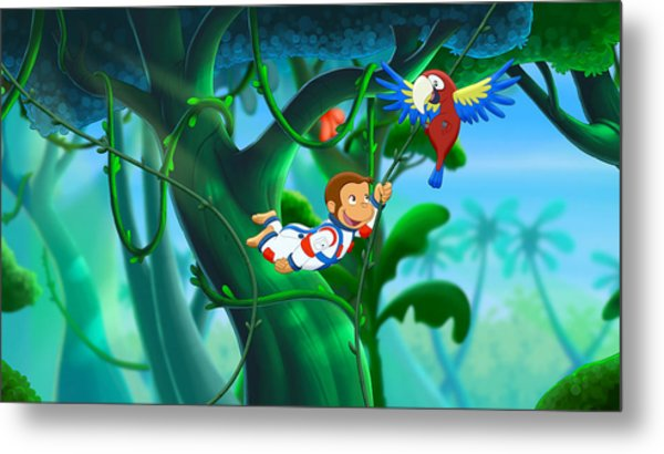 Curious George 3 Back To The Jungle Metal Print