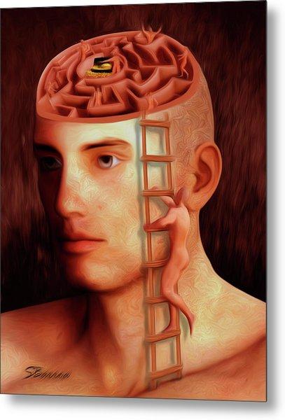 Curious Mind Metal Print