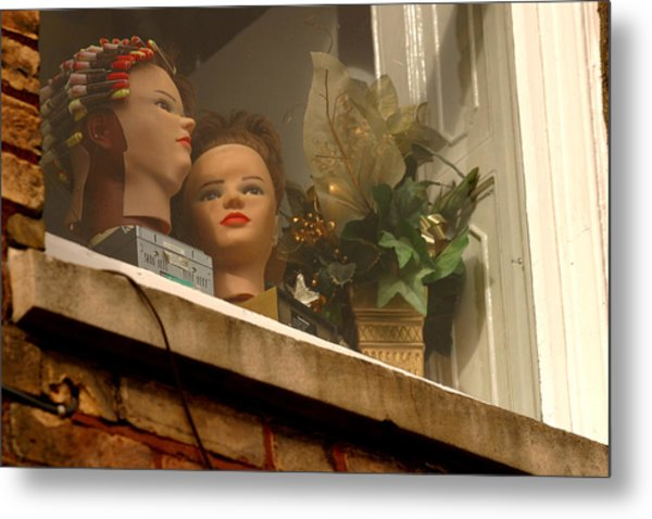 Curlers In Public Show Me Up A Little More Why Dont You Metal Print by Jez C Self