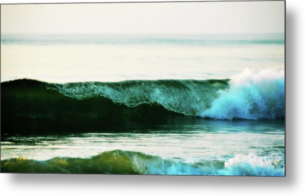 Curling Surf Metal Print by JAMART Photography