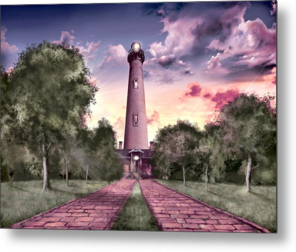 Currituck Beach Lighthouse 2 Metal Print
