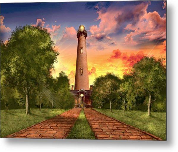 Currituck Beach Lighthouse 3 Metal Print