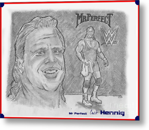 Curt Hennig- Mr Perfect Metal Print by Chris  DelVecchio